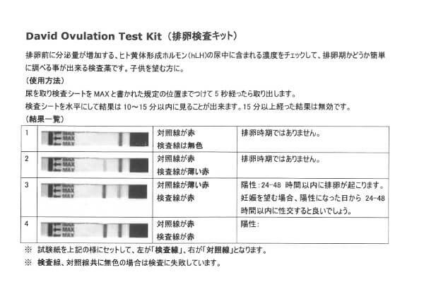 排卵検査キットマニュアル