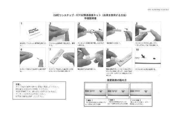HIV検査キット使用方法